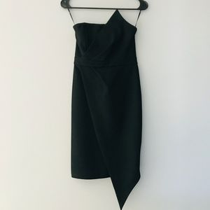 Lulu's Queen of the City Strapless Bodycon Dress